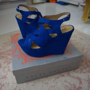 Kelsi Dagger Electric Blue Wedge
